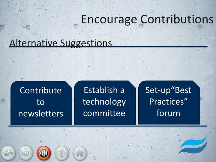 Encourage Contributions