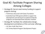 goal 2 facilitate program sharing among colleges1