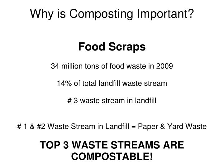 Why is composting important