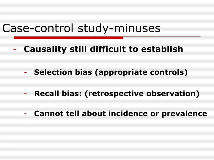 Case-control study-minuses