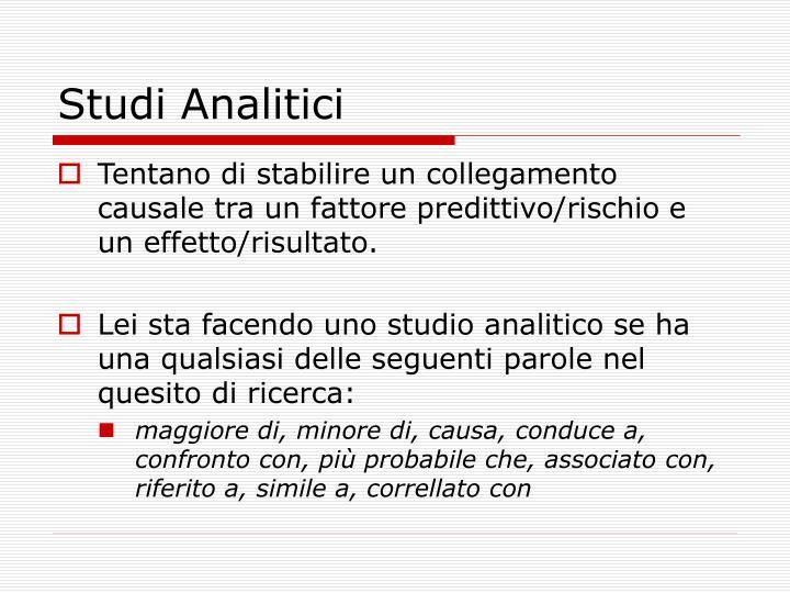 Studi Analitici