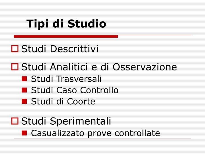 Tipi di Studio