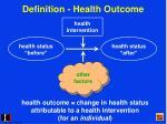 definition health outcome