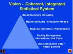 vision coherent integrated statistical system