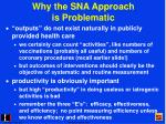 why the sna approach is problematic