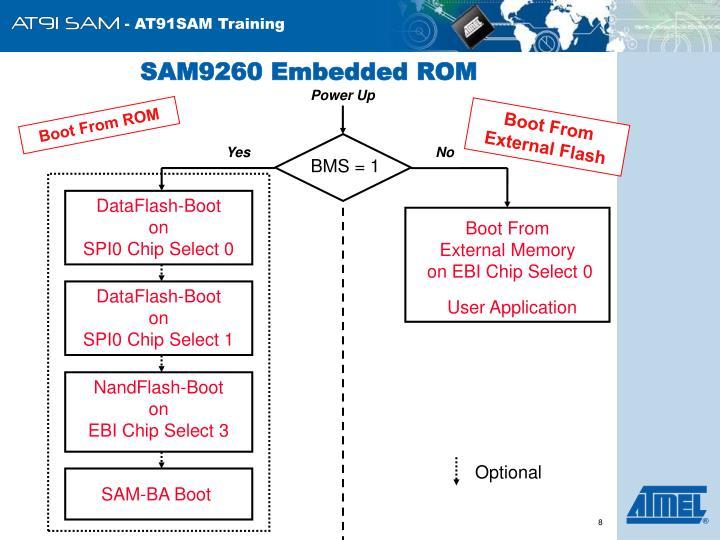 SAM9260 Embedded ROM