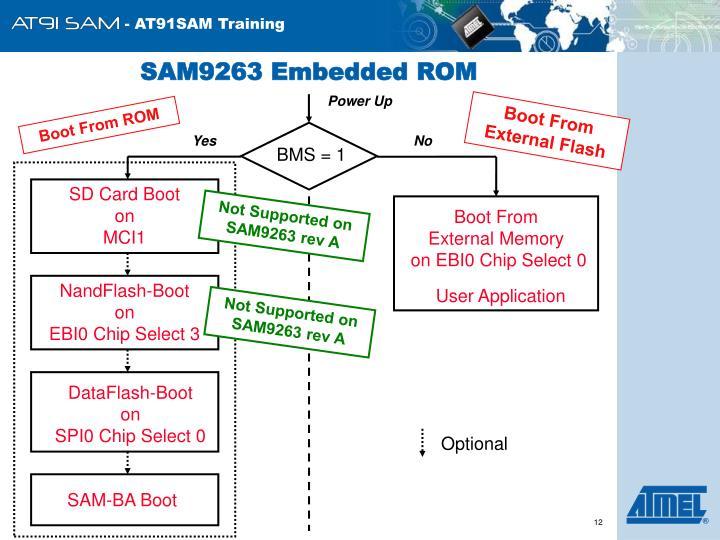 SAM9263 Embedded ROM