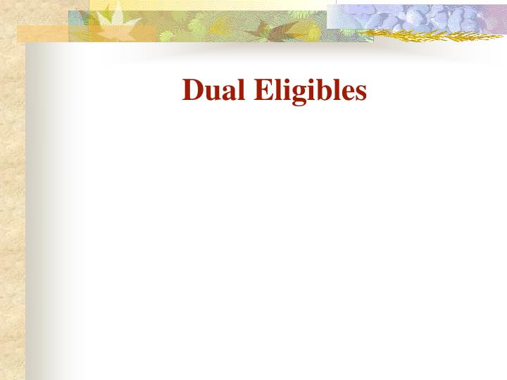 Dual Eligibles