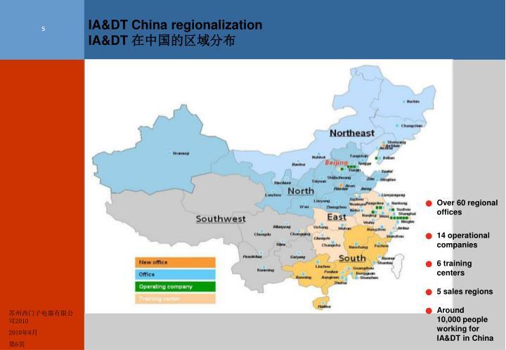 IA&DT China regionalization