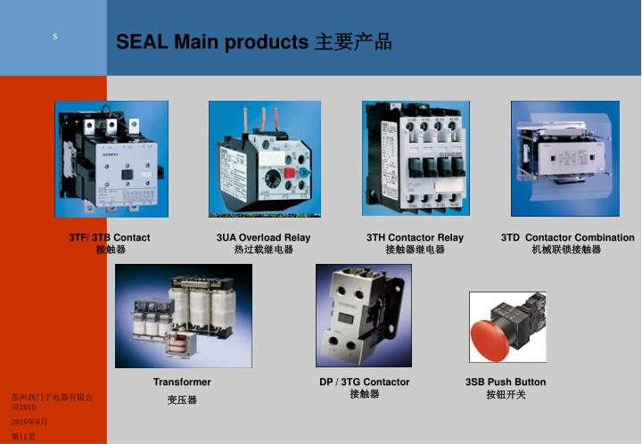 SEAL Main products