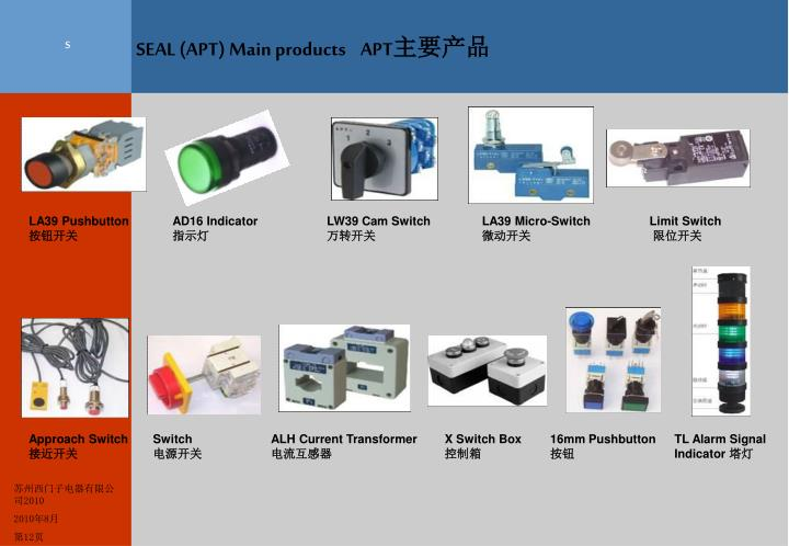 SEAL (APT) Main products    APT