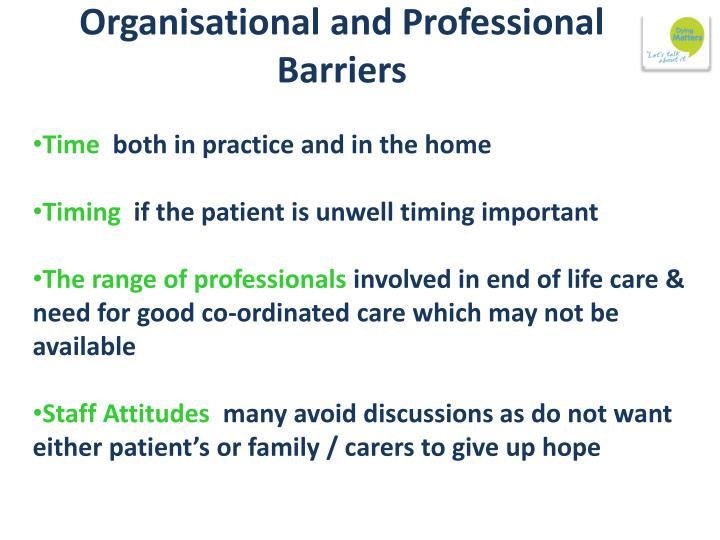 Organisational and Professional