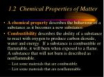 1 2 chemical properties of matter