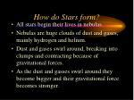 how do stars form