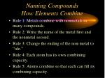 naming compounds how elements combine