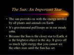 the sun an important star