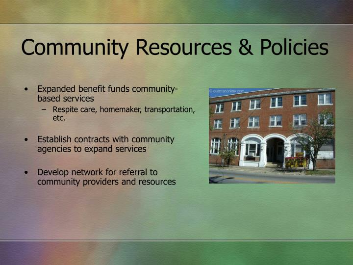 Community Resources & Policies