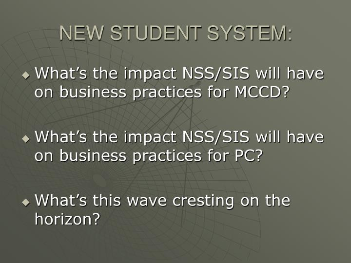 New student system1