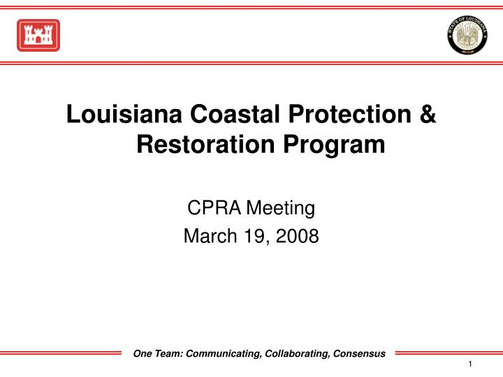 Louisiana Coastal Protection & Restoration Program
