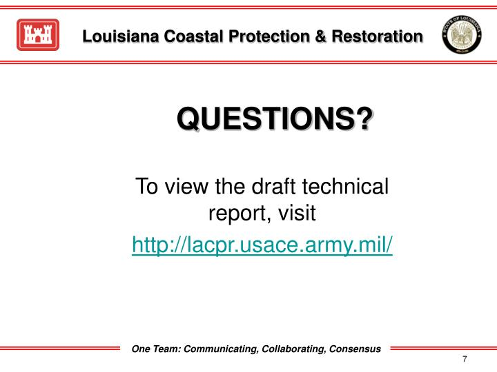 Louisiana Coastal Protection & Restoration