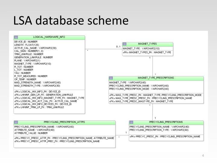 LSA database scheme
