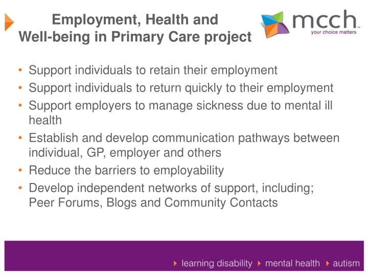 Employment, Health and