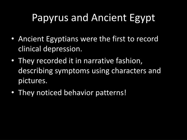 Papyrus and Ancient Egypt
