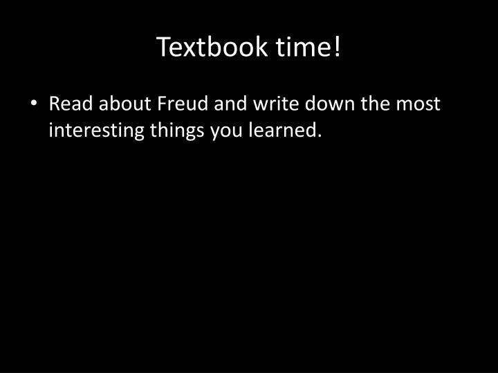 Textbook time!