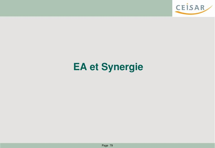 EA et Synergie