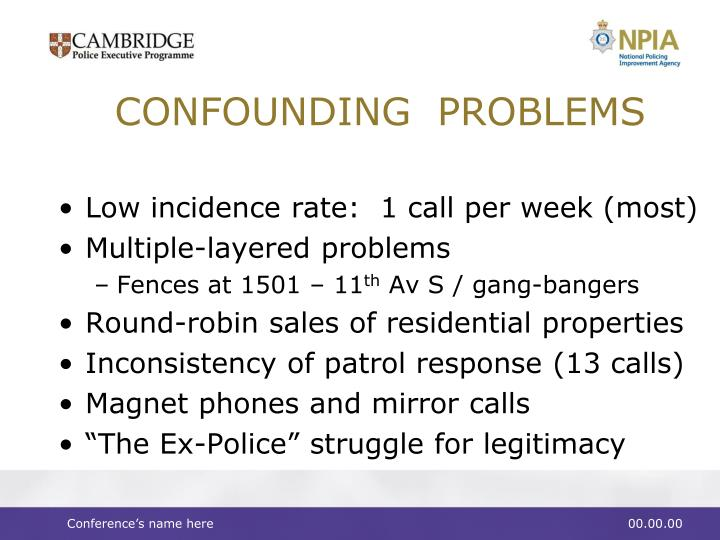 CONFOUNDING  PROBLEMS