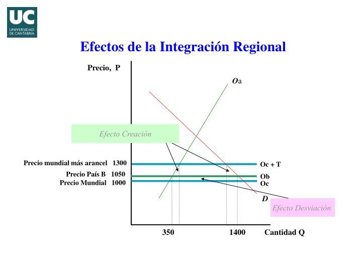 Efectos de la Integración Regional