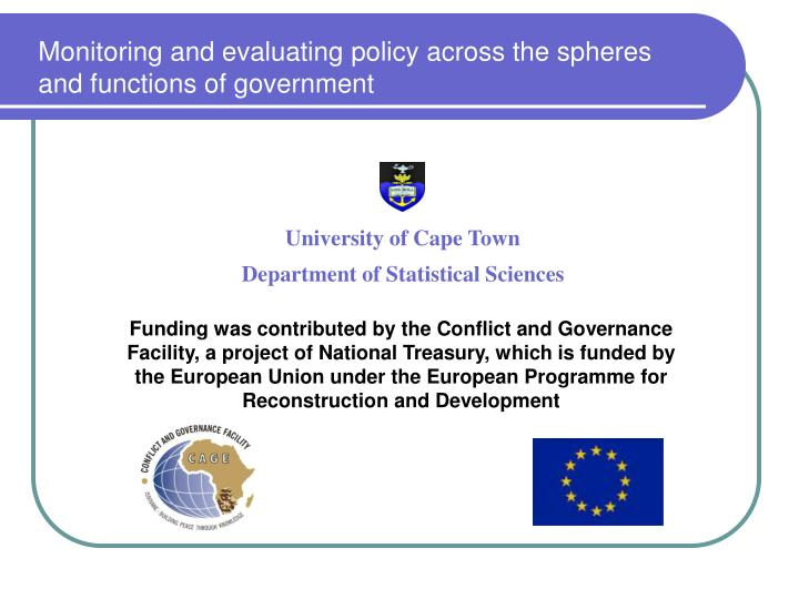 Monitoring and evaluating policy across the spheres and functions of government