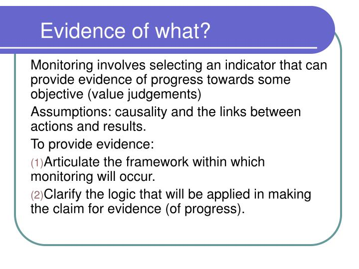 Evidence of what?