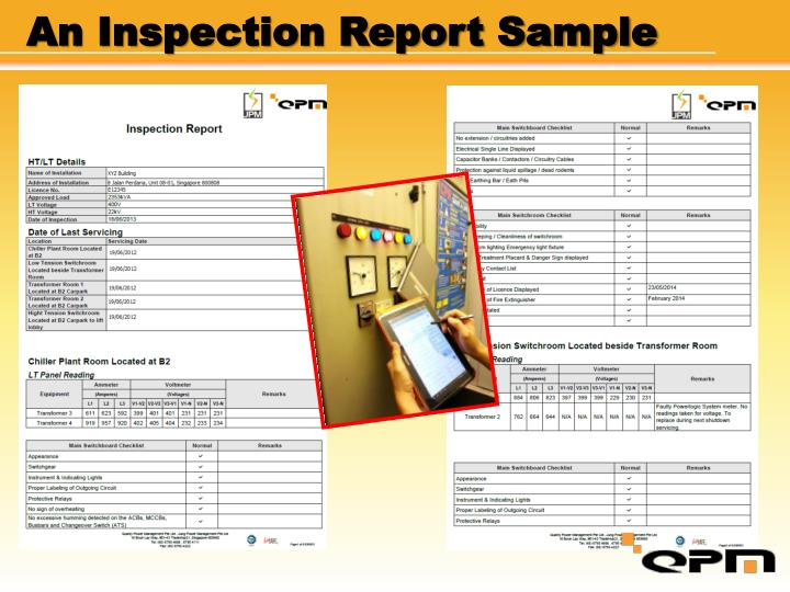 An Inspection Report Sample