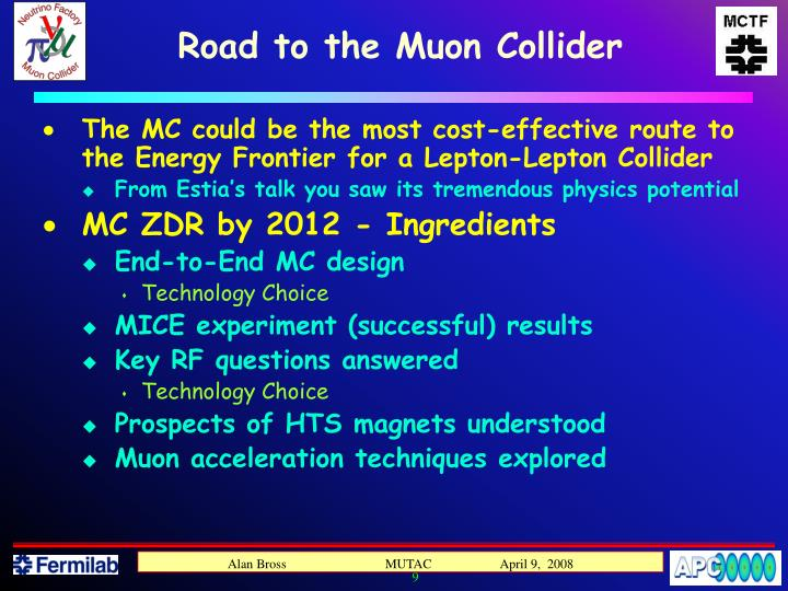 Road to the Muon Collider