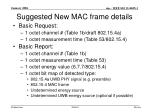 suggested new mac frame details