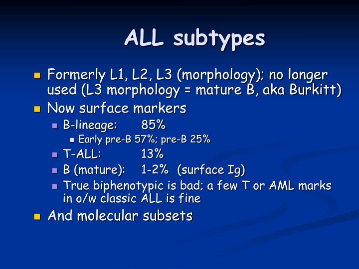 ALL subtypes