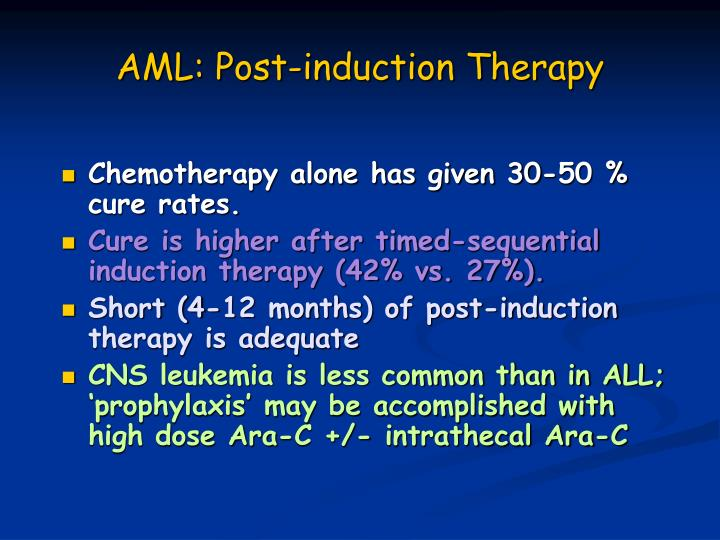 AML: Post-induction Therapy