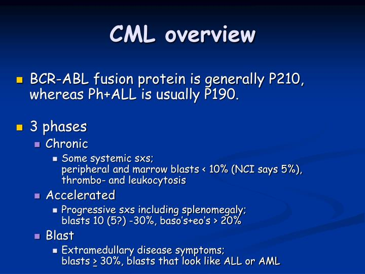 CML overview