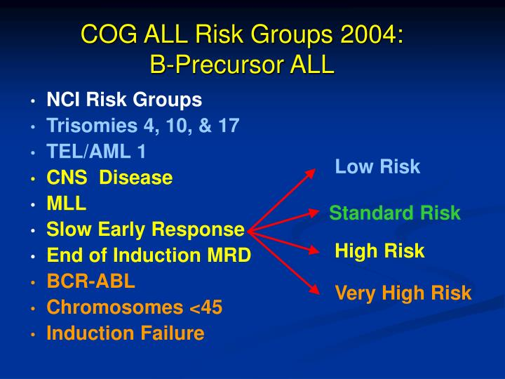 COG ALL Risk Groups 2004:
