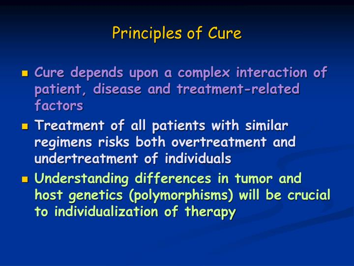 Principles of Cure