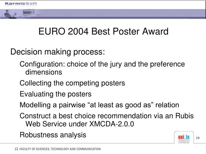 EURO 2004 Best Poster Award