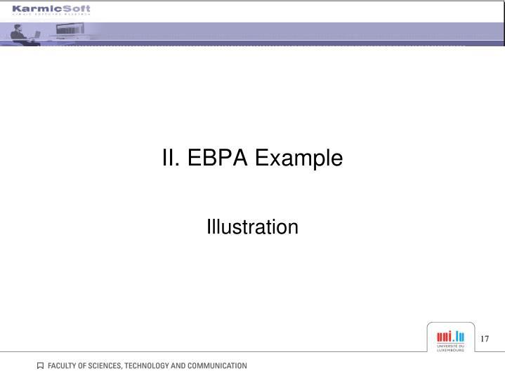II. EBPA Example