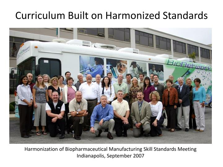 Curriculum Built on Harmonized Standards