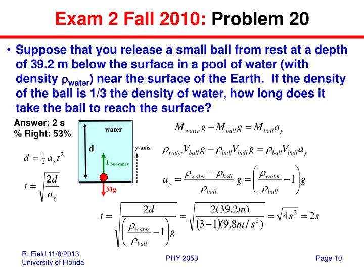 Exam 2 Fall 2010: