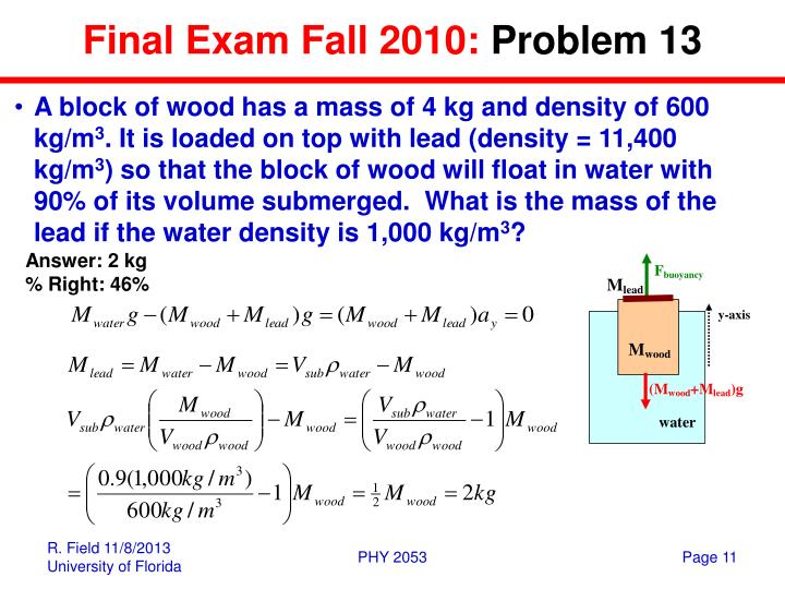 Final Exam Fall 2010: