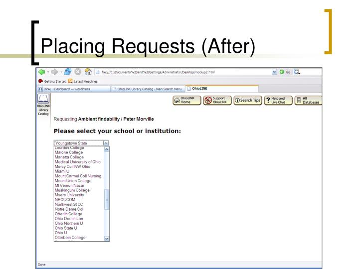 Placing Requests (After)