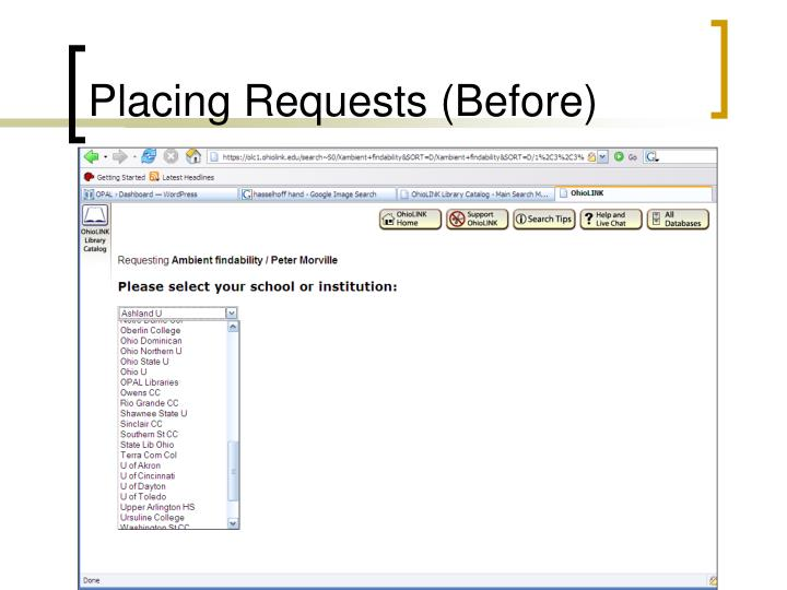 Placing Requests (Before)