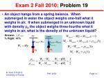 exam 2 fall 2010 problem 19
