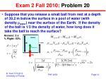 exam 2 fall 2010 problem 20